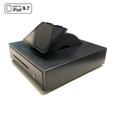 Universal Magnetic iPad Mount for Cash Drawer Black