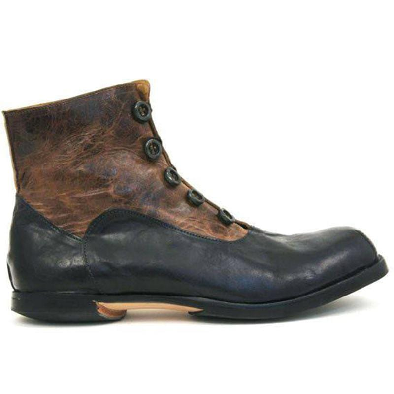 Men's Fashion Buttons Spliced Ankle Boots
