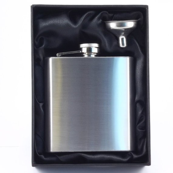 6oz Stainless steel Hip Flask & Funnel