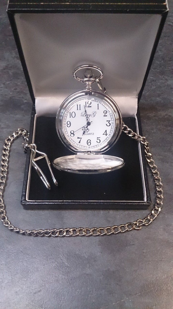 Silver Plated Pocket Watch - Cutting Edge Engravers