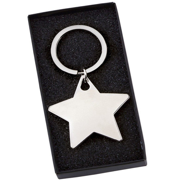 Star Shaped Keyring - Cutting Edge Engravers