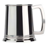Half Pint Stainless Steel Tankard - Cutting Edge Engravers