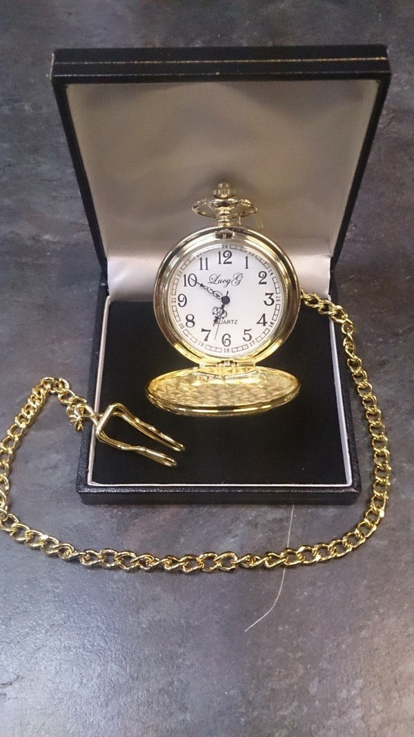 Personalised Gold Plated Pocket Watch - Cutting Edge Engravers