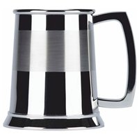 Satin Band Stainless Steel Tankard - Cutting Edge Engravers