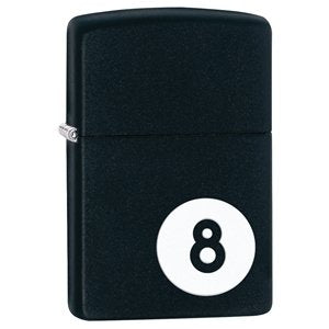 Zippo Matte Black 8 Ball - Cutting Edge Engravers
