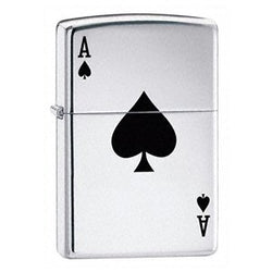 Zippo Lucky Ace Polished Chrome Lighter - Cutting Edge Engravers