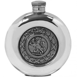 5oz Lion Rampant Pewter Hip Flask