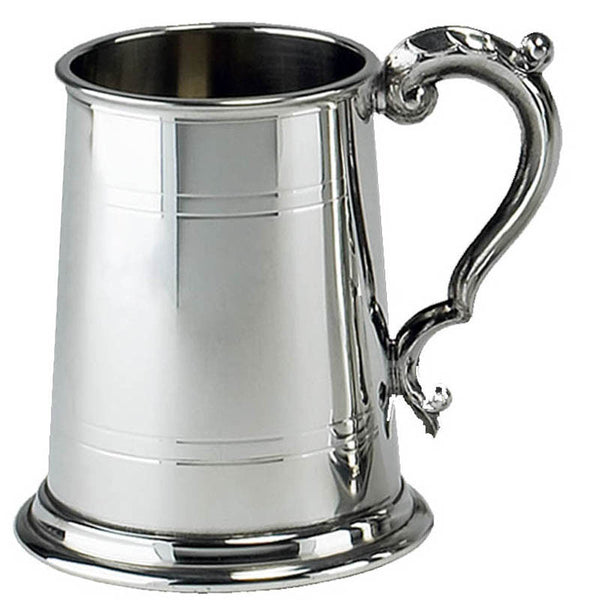 1 Pint Pewter Tankard with Georgian Style Handle - Cutting Edge Engravers