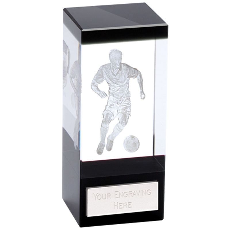 Orbit Black Football Crystal - Cutting Edge Engravers