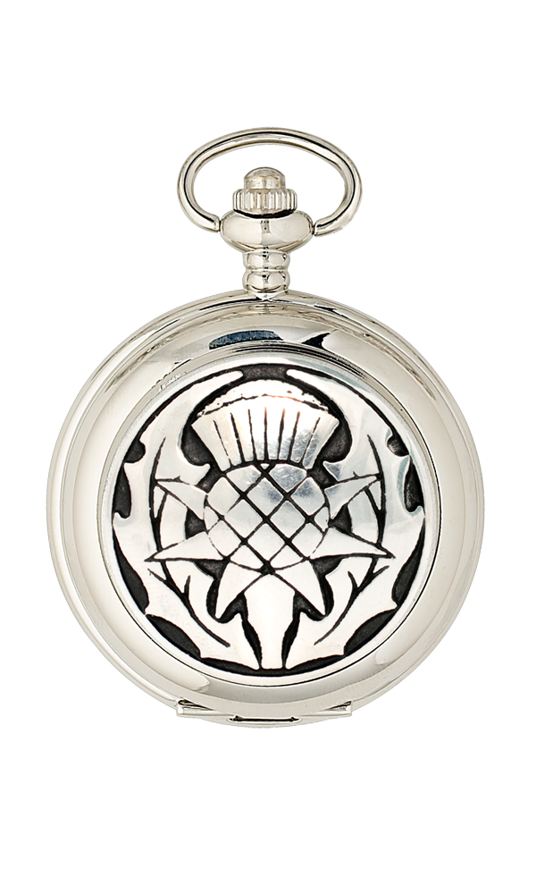 Thistle 2 Piece Pocket Watch Gift Set - Cutting Edge Engravers