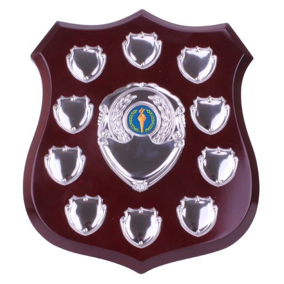 Illustrious Wooden Annual Shield 8.5""