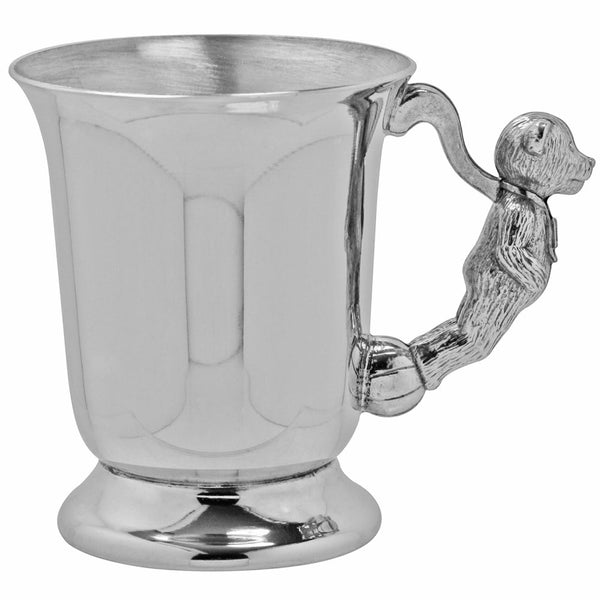Teddy Bear Handle Child's Pewter Cup - Cutting Edge Engravers