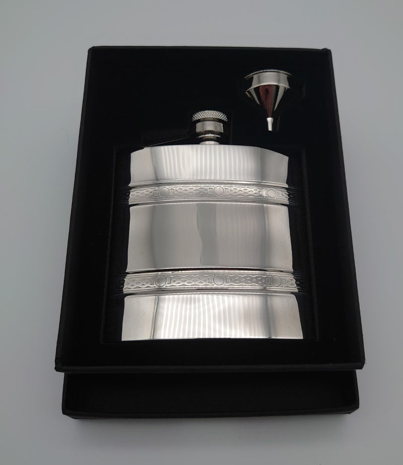 6oz Celtic Band Hip Flask - Cutting Edge Engravers