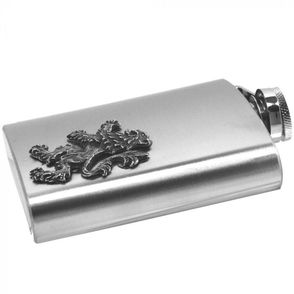 Rampant Lion Hip Flask - Cutting Edge Engravers
