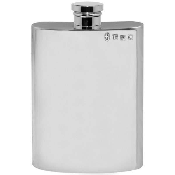 6oz Plain Pewter Hip Flask - Cutting Edge Engravers