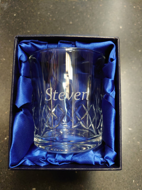 Crystal Whisky Glass - Cutting Edge Engravers