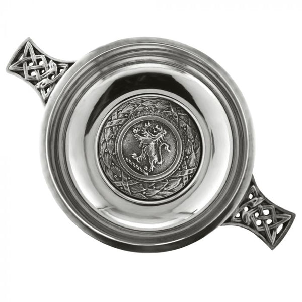 "3.5"" Lion Rampant Badge Quaich - Cutting Edge Engravers"
