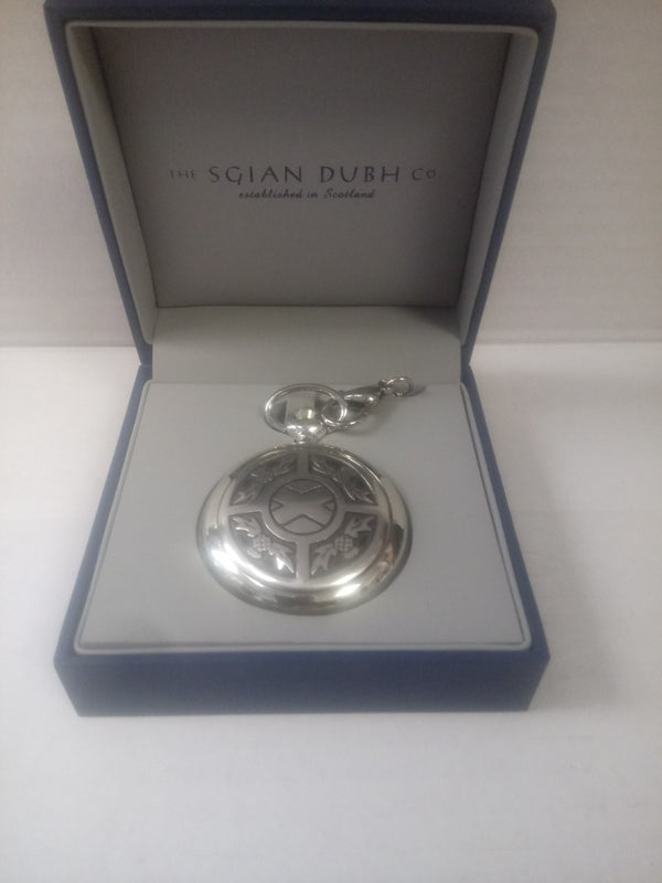 Saltire Chrome Pocket Watch