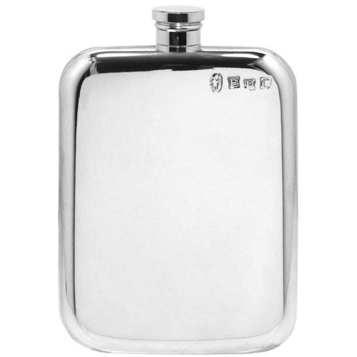 6oz Pewter Hip Flask - Cutting Edge Engravers