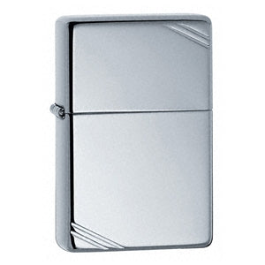 Zippo High Polished Chrome Lighter Vintage With Slashes - Cutting Edge Engravers