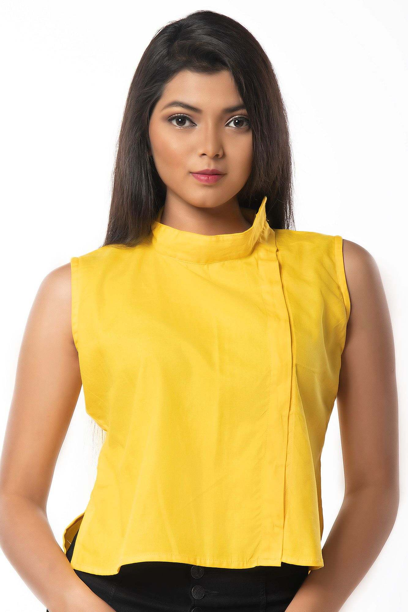 YELLOW COLORED BLOUSE CUM TOP
