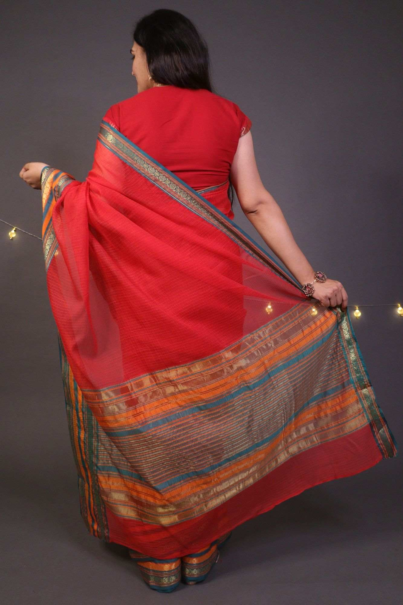 Black Lucknow Chikan Wrap in 1 Minute Saree