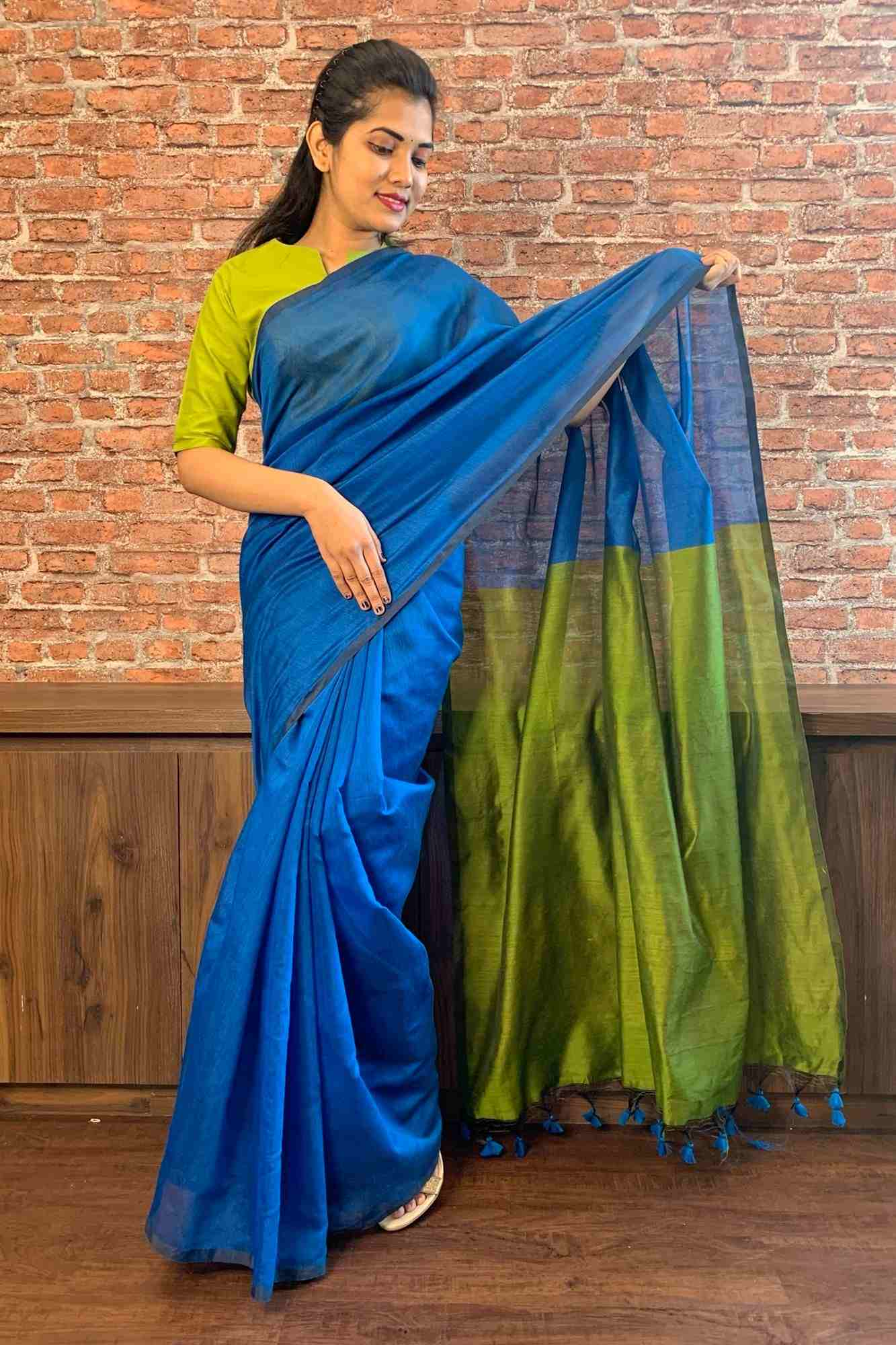 Handloom khadi wrap in 1 minute saree