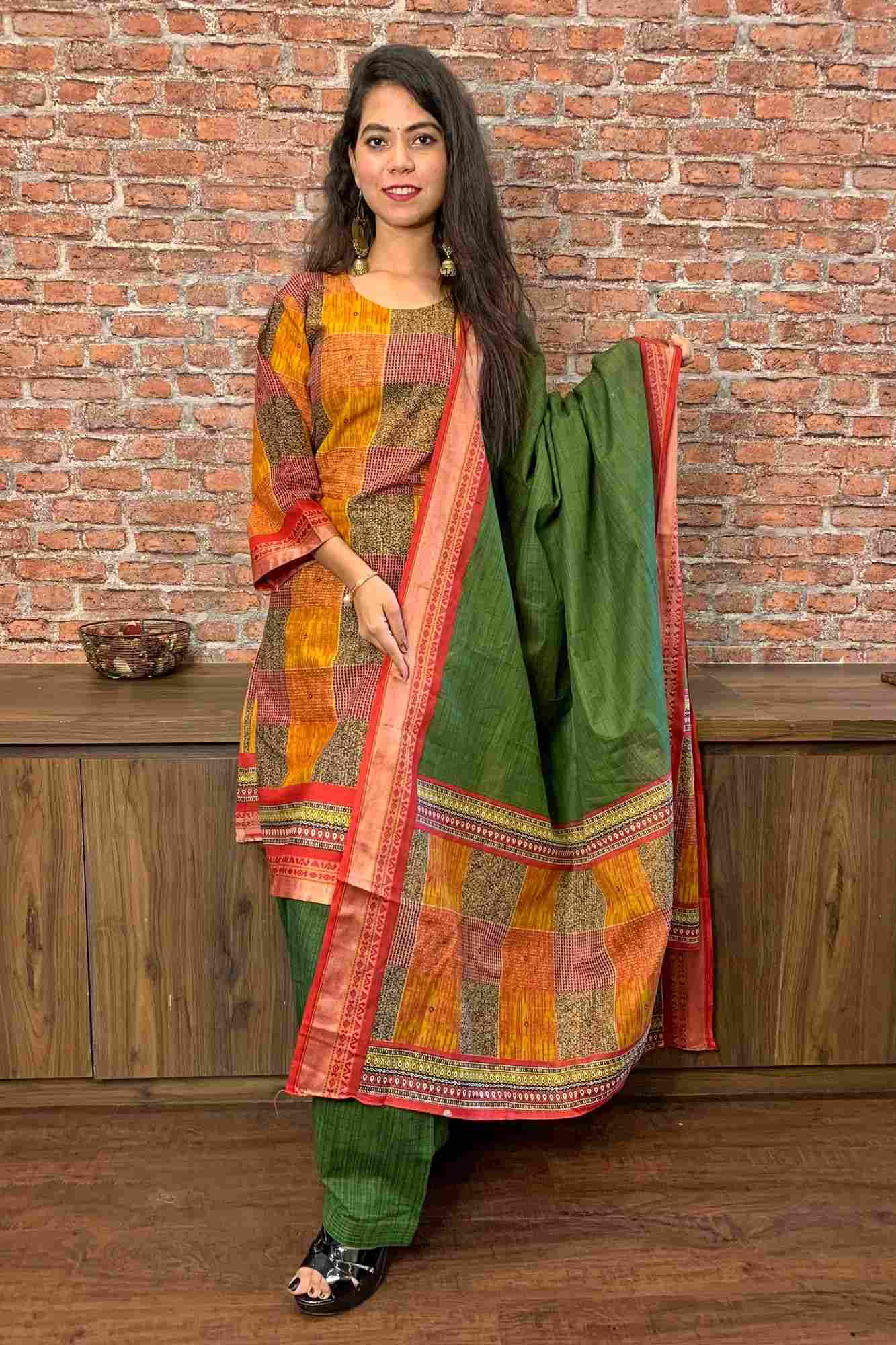 Pure cotton readymade salwar kameez