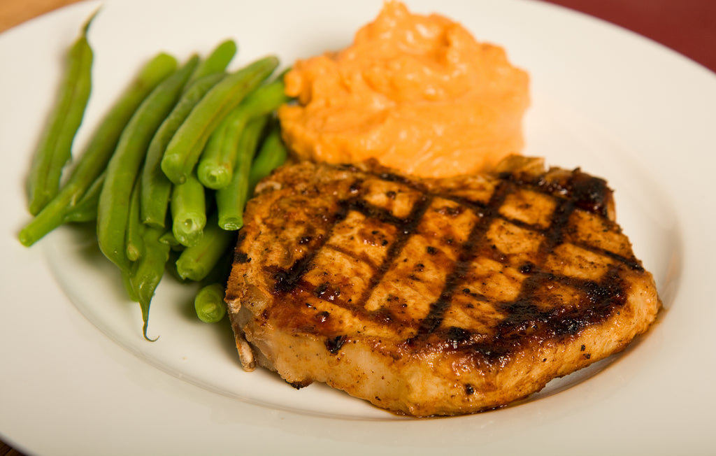 Orange-Honey Pork Loin with Sweet Potato Mash