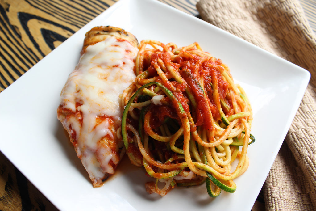 Chicken Parm with Zucchini Noodles