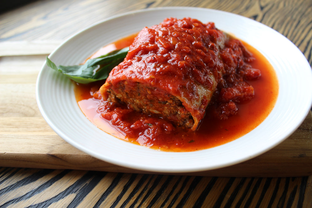 Low-fat Meat and Cheese Cannelloni