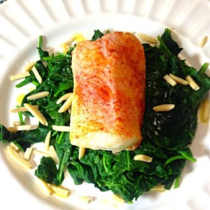 Cod with spinach2