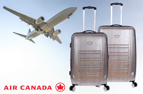Ensemble de 2 valises Air Canada à parois rigides - Taxes incluses - 56% de rabais