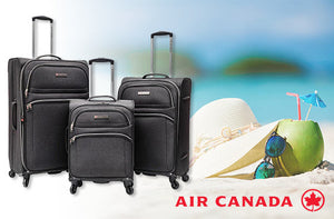 Ensemble de 3 valises à roulettes Air Canada - Taxes incluses - 50% de rabais