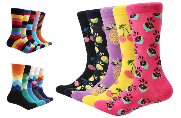 original couleurs harmonieuses premier coup d'oeil Pack of 5 pairs of fun and colourful cotton-blend socks - Taxes included –  51% off