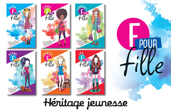 Ensemble de 6 romans jeunesse de la collection F Pour Fille - Taxe incluse - 44% de rabais
