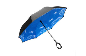 Incroyable parapluie intelligent réversible à double face - Taxes incluses - 50% de rabais