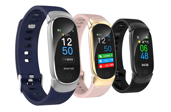 Touch-screen smart fitness band