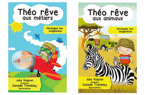 Ensemble de 8 livres de la collection Théo rêve - Taxe incluse - 40% de rabais