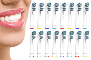 Ensemble de 16 têtes de rechange pour brosses à dents à piles compatibles Oral B - Taxes incluses - 59% de rabais