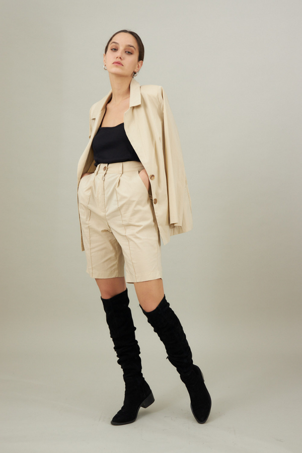 Mary Pants - Beige color