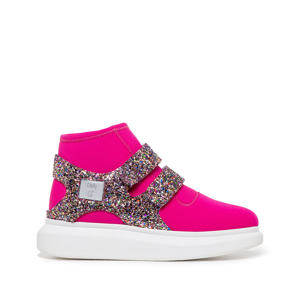 Ténis Bota High Top Pink