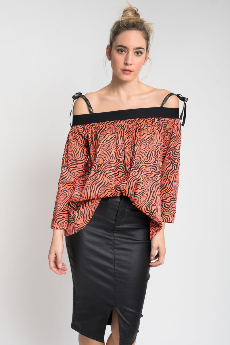 TOP ESTAMPADO CORAL
