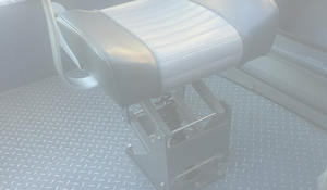 Suspension boat seat base