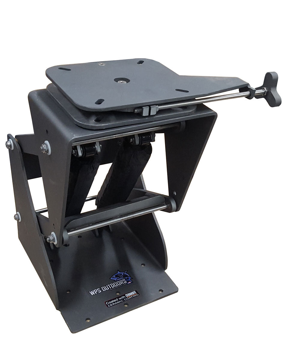 Hydro Shock 7 Extreme Duty Suspension Boat Seat Base with locking swivel