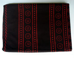 Red Mudcloth Throw