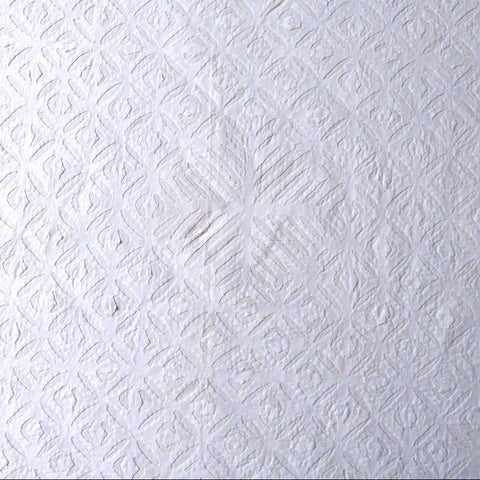 White Applique Tablecloth