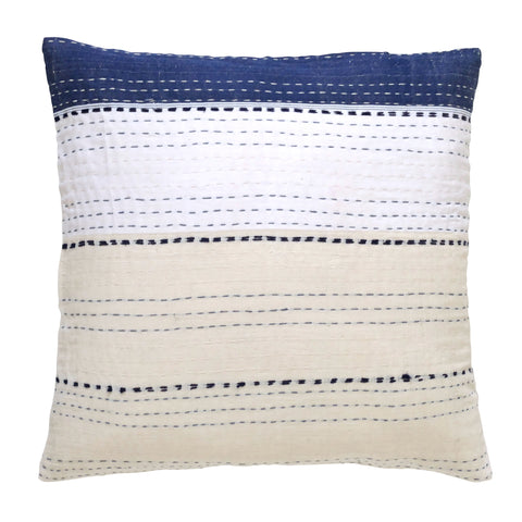 Indigo/ Cream and White Cushion (1)