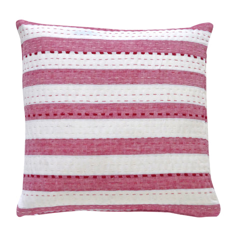 Red and White Stripe Cushion (1)