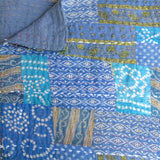 Royal Blue Vintage Cotton Sari Quilt